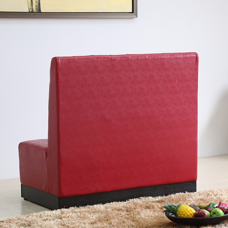 product-Uptop Furnishings-SP-KS257 Cafe furniture red leather sofa booth seating-img