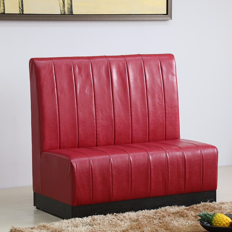 product-SP-KS257 Cafe furniture red leather sofa booth seating-Uptop Furnishings-img