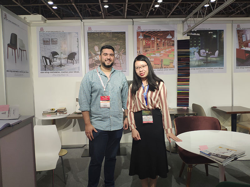 Uptop Furnishings-Uptop Attended The Homelife Exhibition In Dubai   Table For Office-2