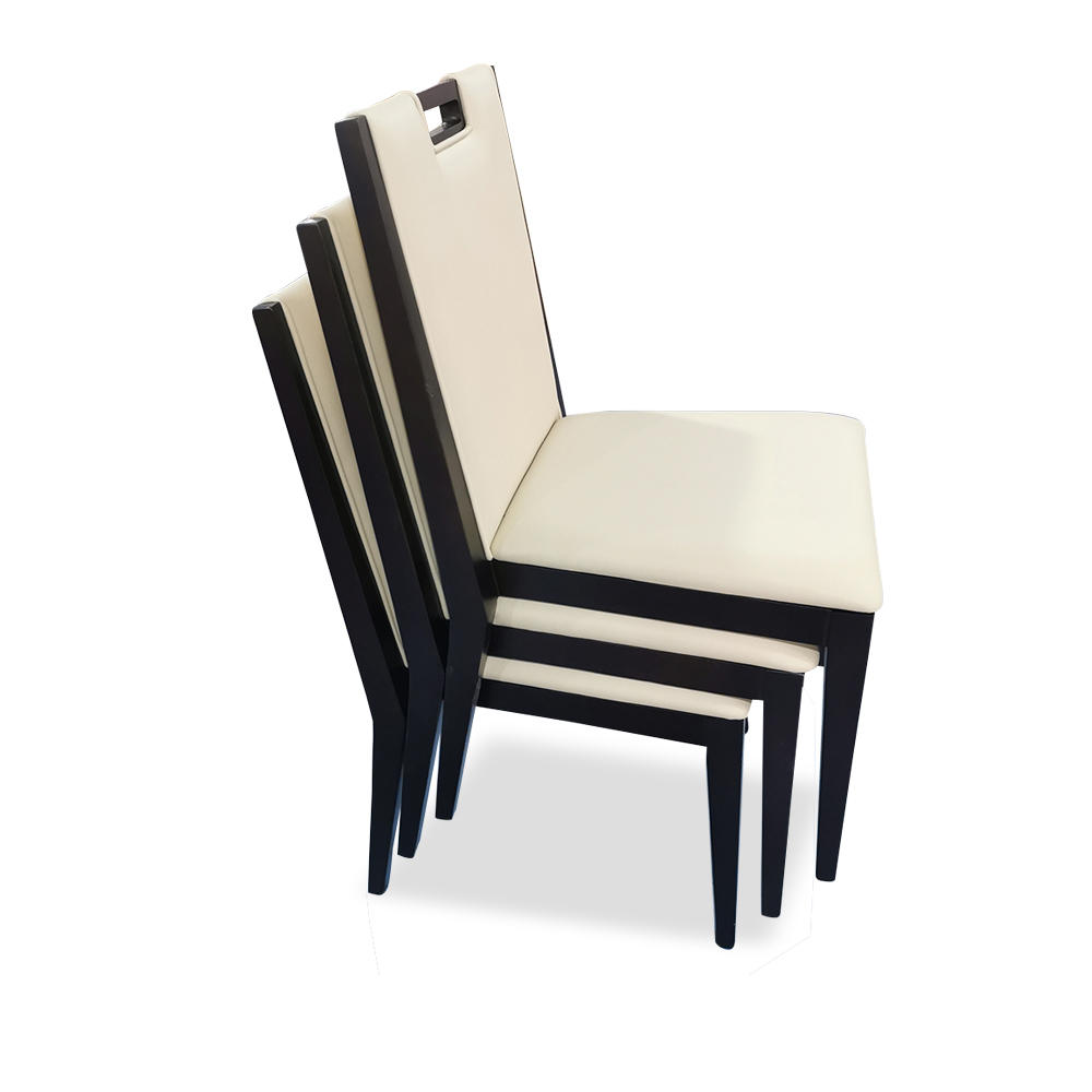 (SP-EC885) Hot sale luxury simple leather wood stackable restaurant wedding hotel chair