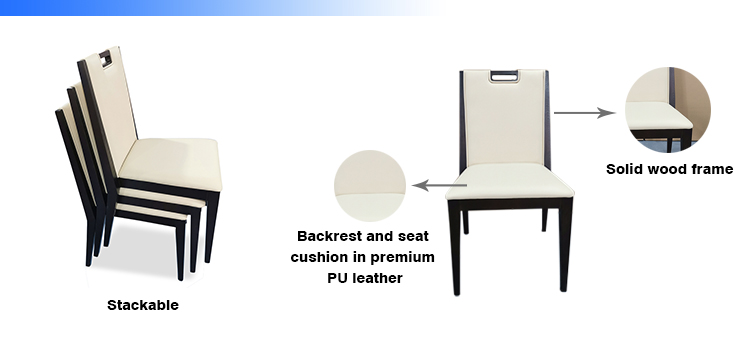 product-SP-EC885 Hot sale luxury simple leather wood stackable restaurant wedding hotel chair-Uptop