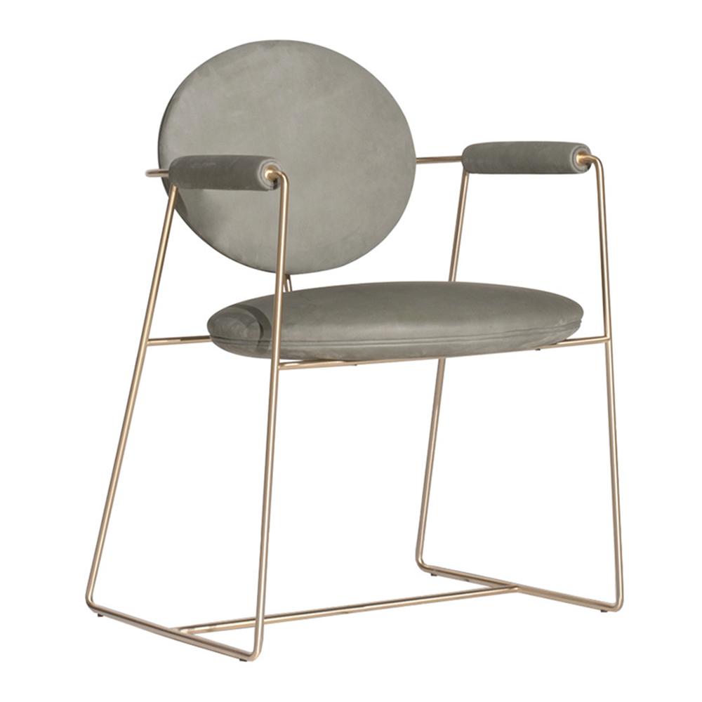 product-SP-HC665 Modern lounge upholstered metal restaurant furniture arm chair-Uptop Furnishings-im