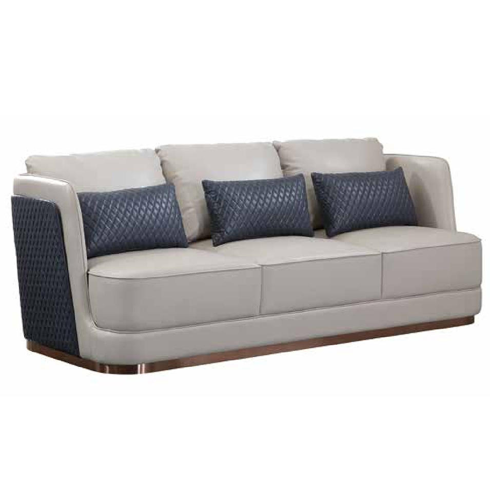 Modern design leather sectional luxury sofa set furniture living room sofas (SP-KS488)