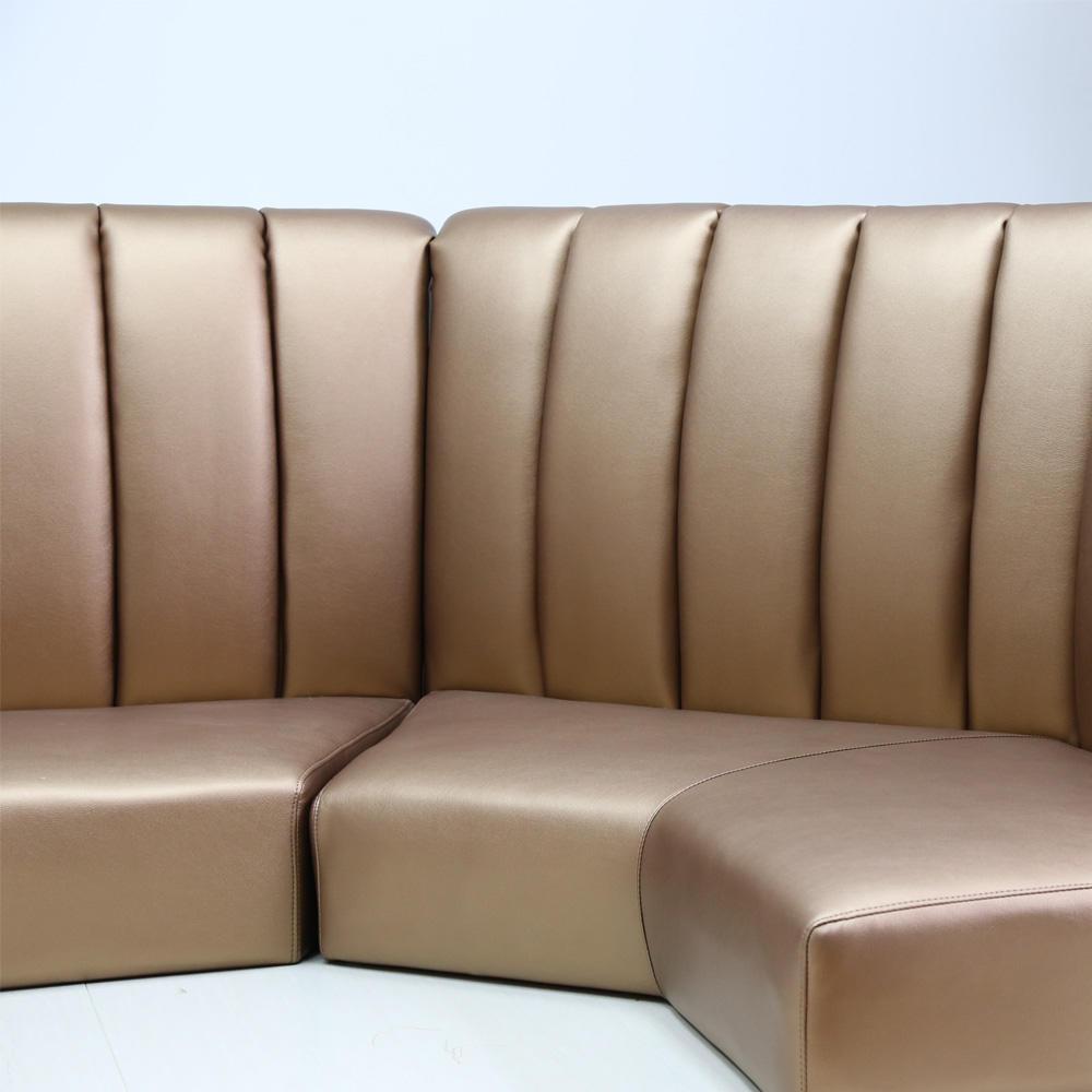 (SP-KS392) Popular Golden used restaurant furniture set sofa furniture restaurant booths for coffee shop