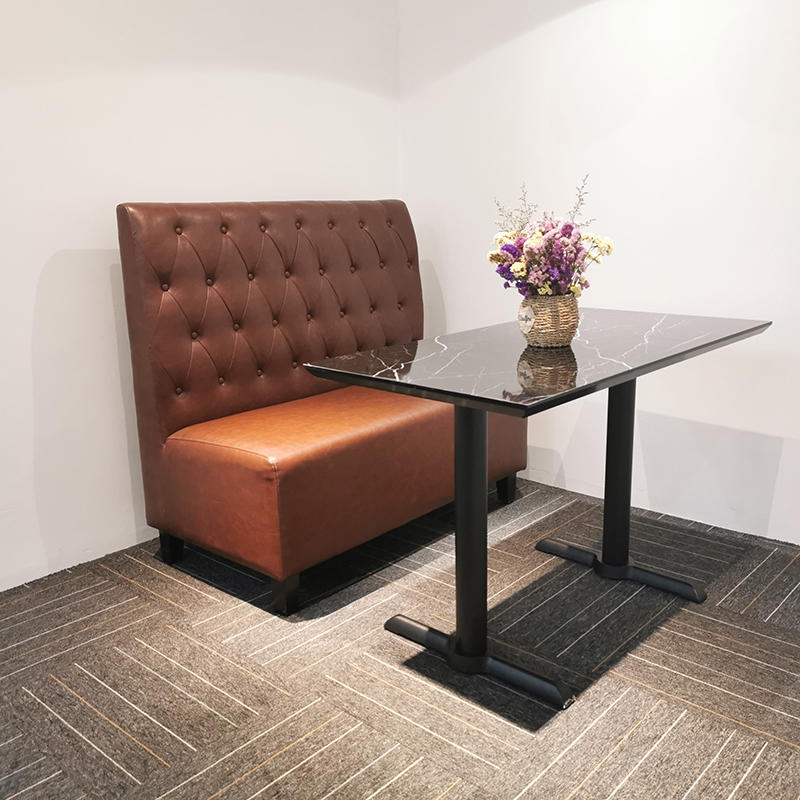 Commercial modern furniture sets used restaurant booth leather sofa seating (SP-KS109)