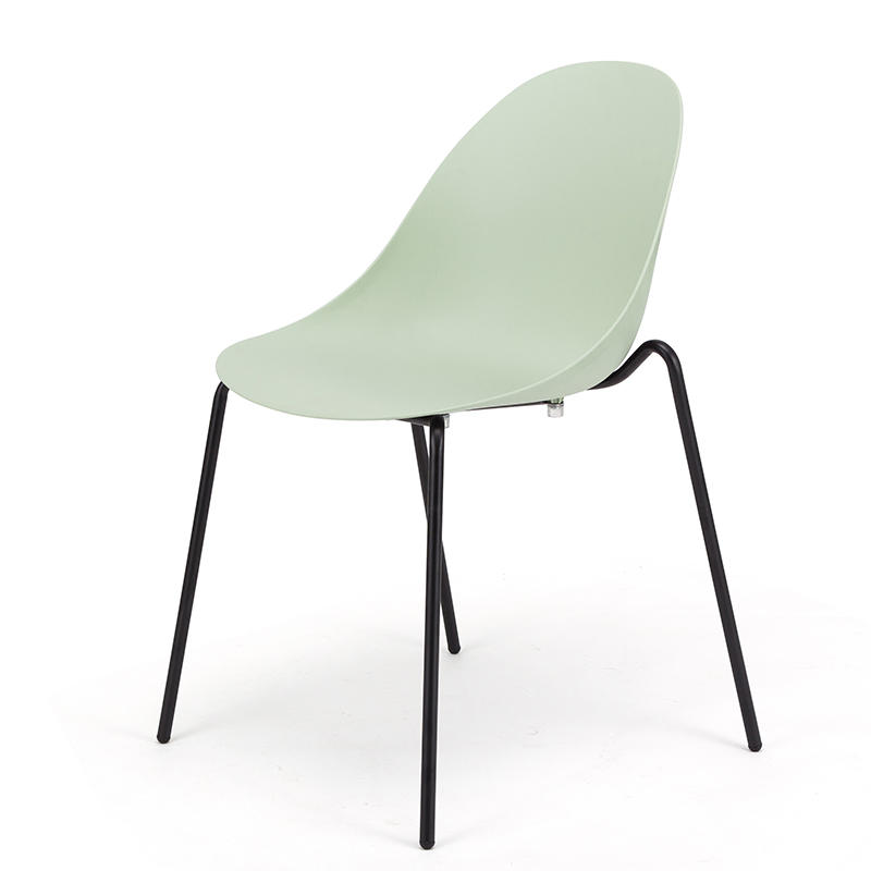 (SP-UC058) Simple style modern stackable metal used restaurant furniture office metal plastic chairs