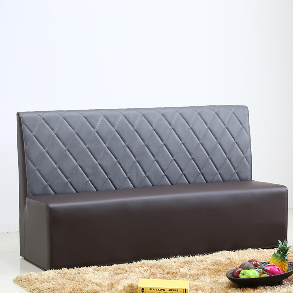 (SP-KS345) Modern wood furniture dining room sets leather sofa seating restaurant booths