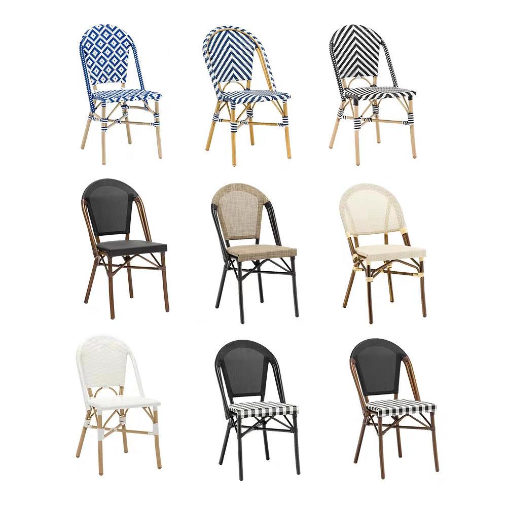 (SP-OC359) Casual modern aluminium rattan chair garden outdoor bamboo furniture sets garden chairs