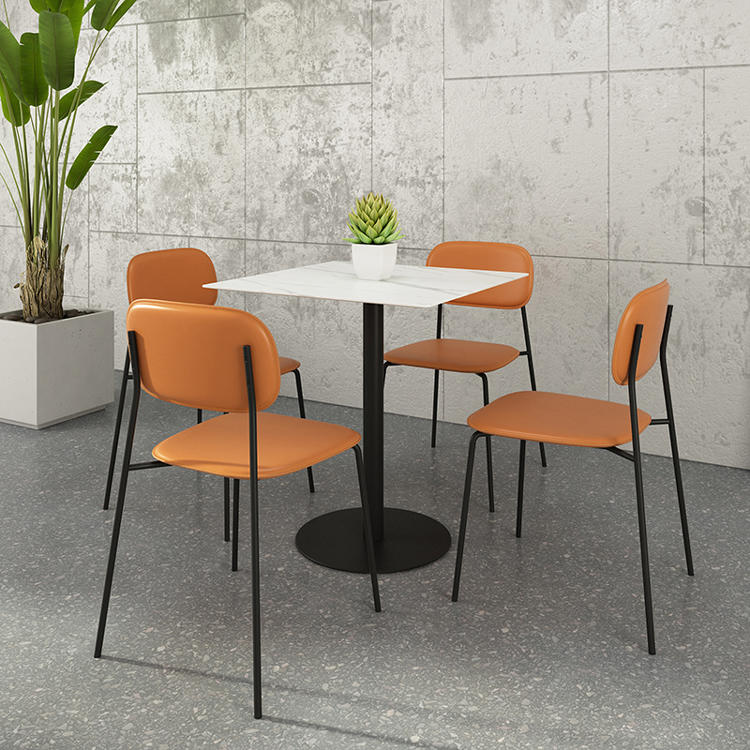 (SP-LC201) New wholesale stackable metal cafe furniture restaurant chairs used dining sets