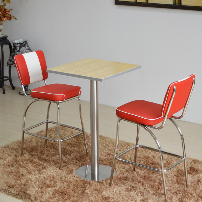 (SP-CT847) 1950s American bar dining tables and chairs set restaurant furniture