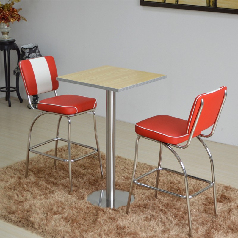 product-SP-CT847 1950s American bar dining tables and chairs set restaurant furniture-Uptop Furnishi