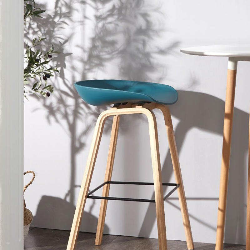 (SP-BS200) Wholesale cheap plastic wood furniture bar stool chairs for restaurant