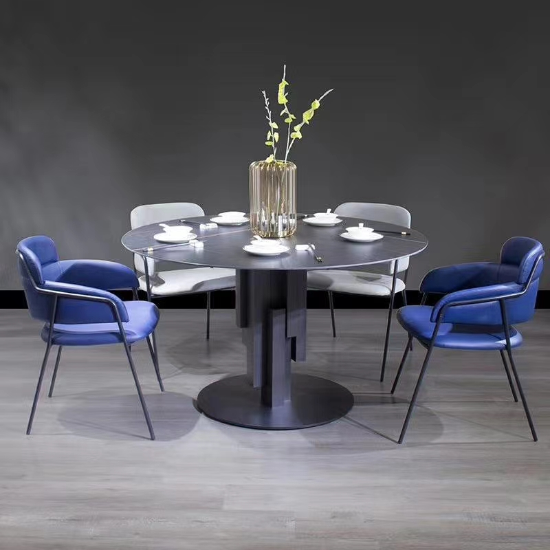 product-Uptop Furnishings-SP-LC822 New design blue cafe furniture dning room sets restaurant chairs