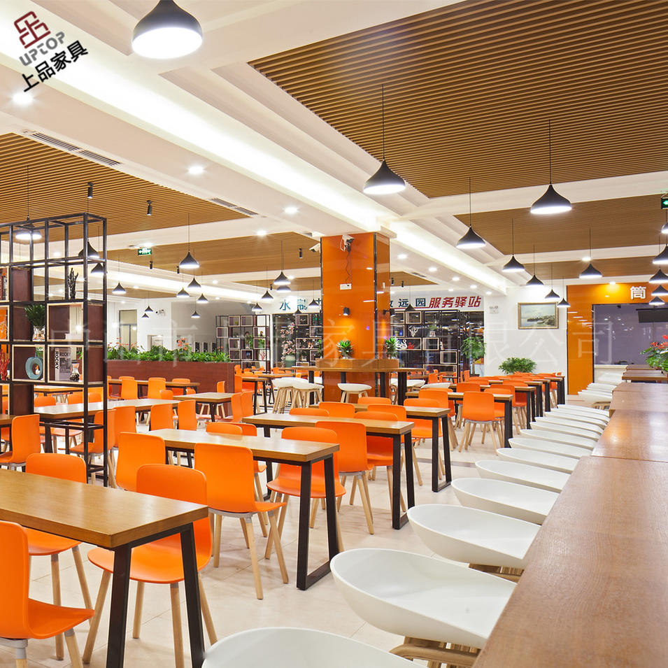 (SP-CS394) UPTOP project commercial school furniture table and chairs sets dining room furniture