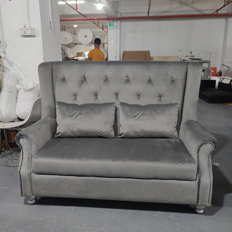 (SP-KS301) Modern hotel furniture booth seating living room gray fabric sofa for sale