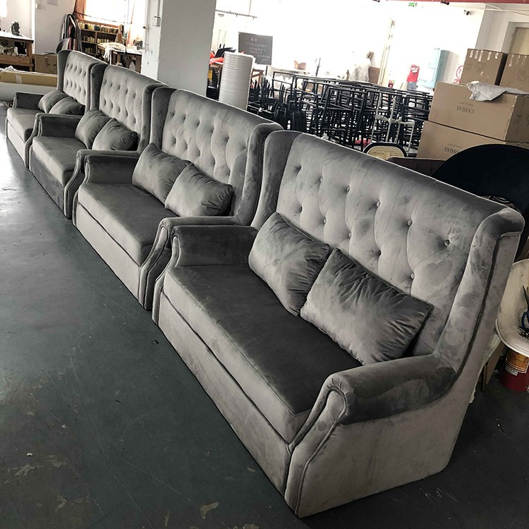 product-SP-KS301 Modern hotel furniture booth seating living room gray fabric sofa for sale-Uptop Fu