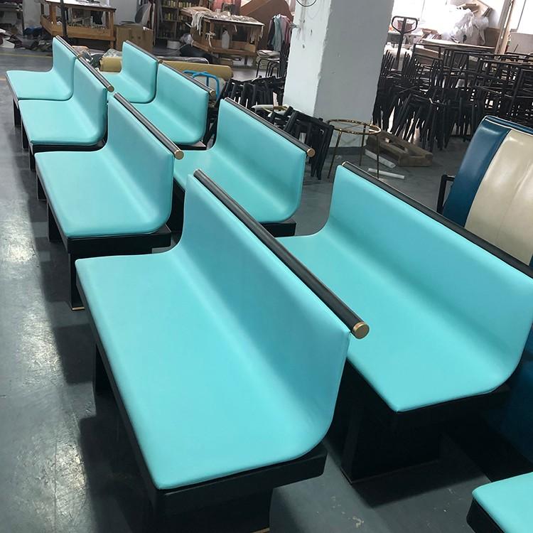 product-Uptop Furnishings-SP-KS386 Modern Durable Pink sofa booth seating dining sets metal restaura