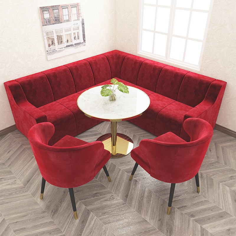 product-SP-KS387 New modern red fabric sofa booth seating sectional sofa set designs-Uptop Furnishin