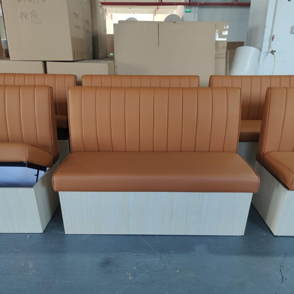 (SP-KS385) Modern casual double sided  cafe furniture sofa booth seating restaurant sets