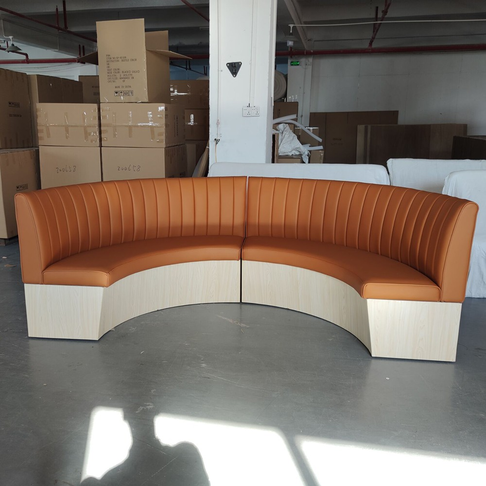 product-SP-KS385 Modern casual double sided cafe furniture sofa booth seating restaurant sets-Uptop