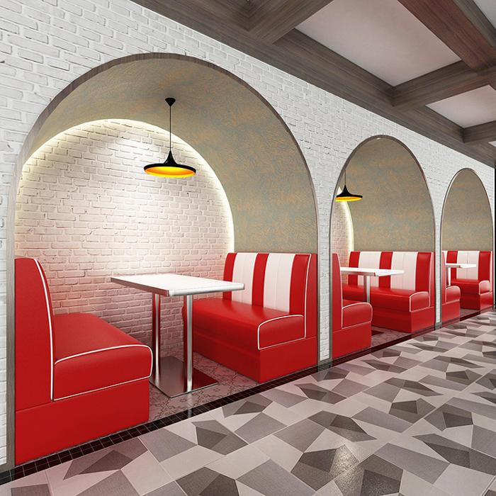 (SP-KS266) 1950s American dining room furniture restauant booth