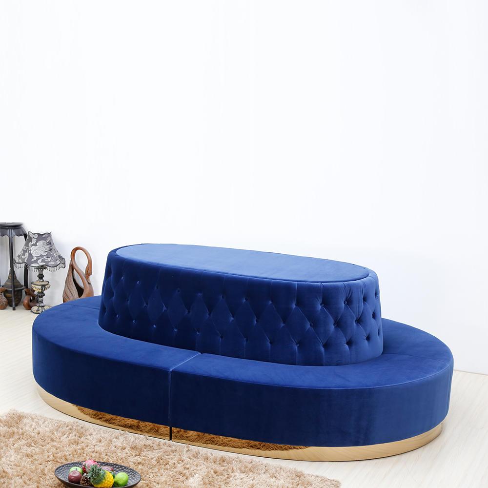 (SP-KS175) Round leisure hotel furniture fabric sofa sets
