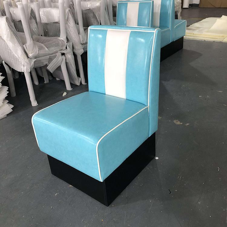 (SP-KS269C) 1950s American leather single sofa restaurant booth