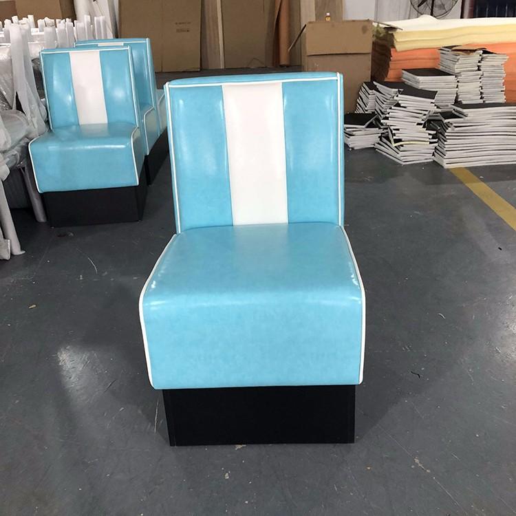 product-SP-KS269C 1950s American leather single sofa restaurant booth-Uptop Furnishings-img