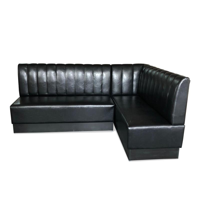 Modern black leather sofa restaurant furniture