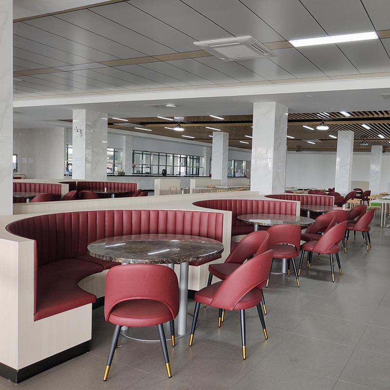(SP-CS139) Modern furniture leather sofa restaurant furniture