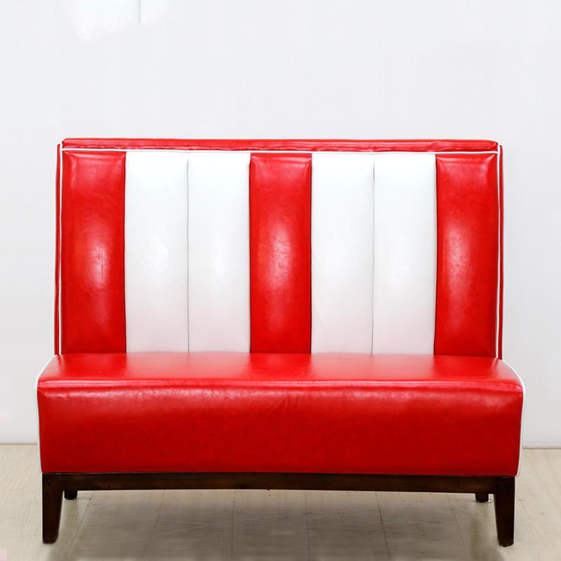 (SP-KS261) 1950s American leather sofa restaurant booth