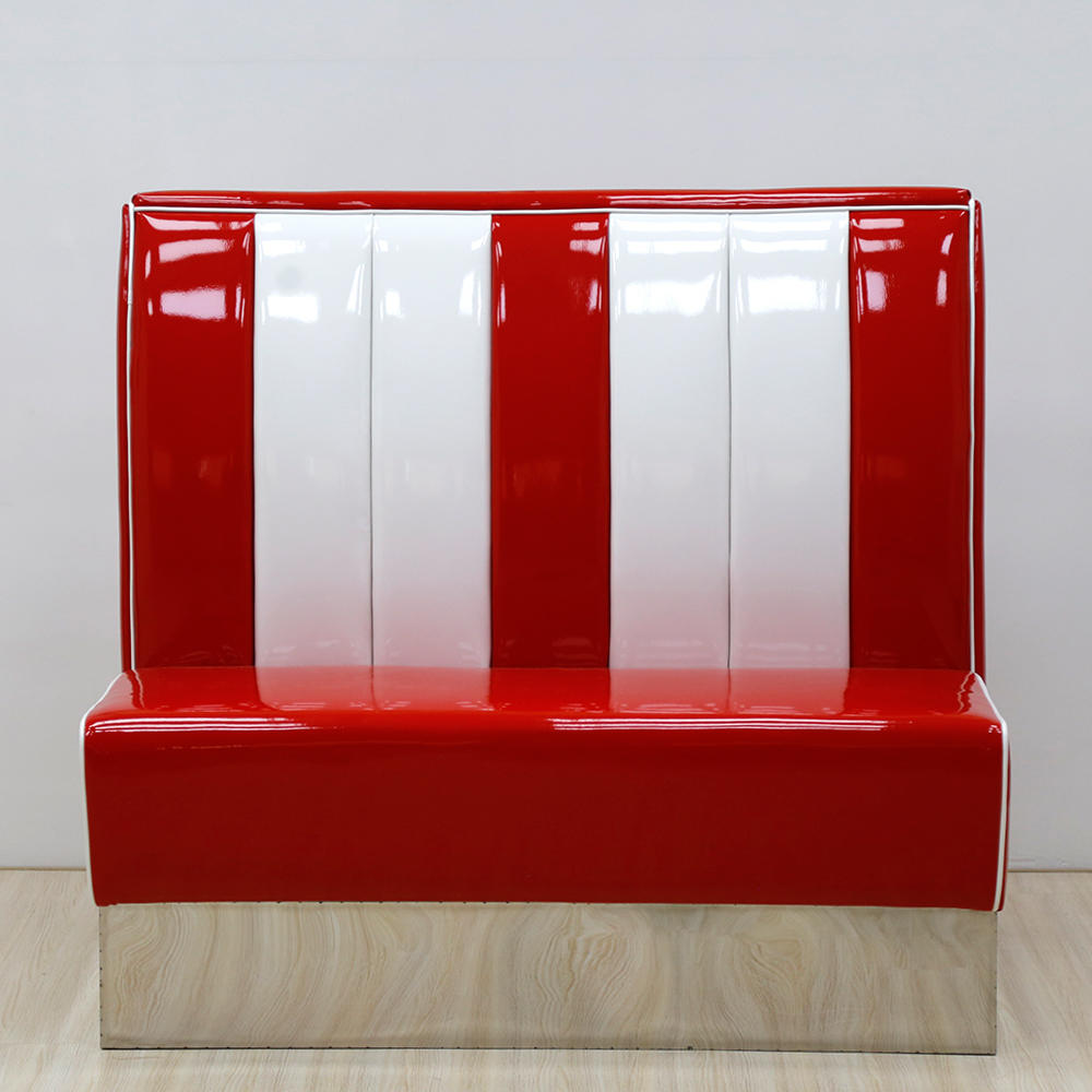 (SP-KS265) 1950s leather sofa restaurant booth for sales