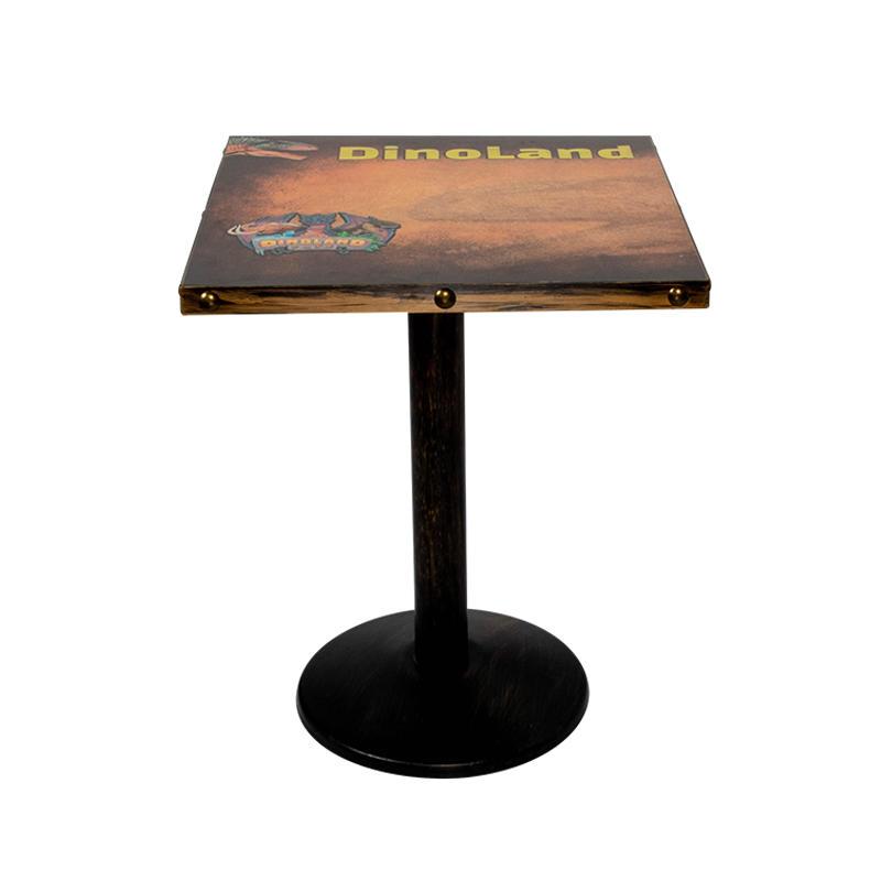 Logo 3D printing HPL table top with metal edge (SP-RT179)
