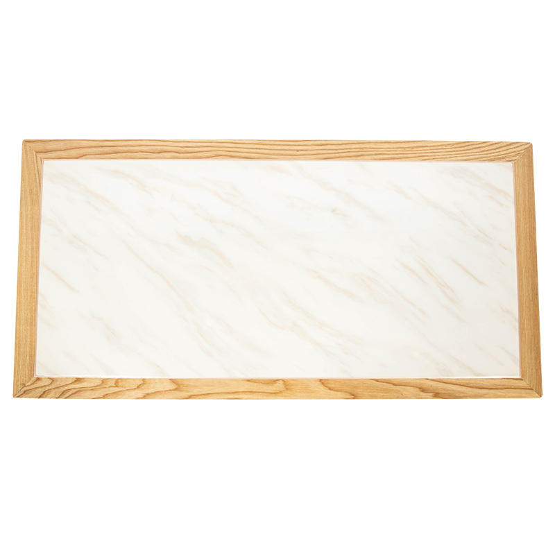 Artifical marble table top with solid wood edge (SP-RT188)