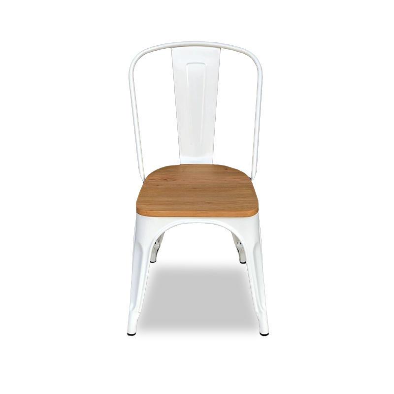 (SP-MC035) Restaurant white metal dining chair