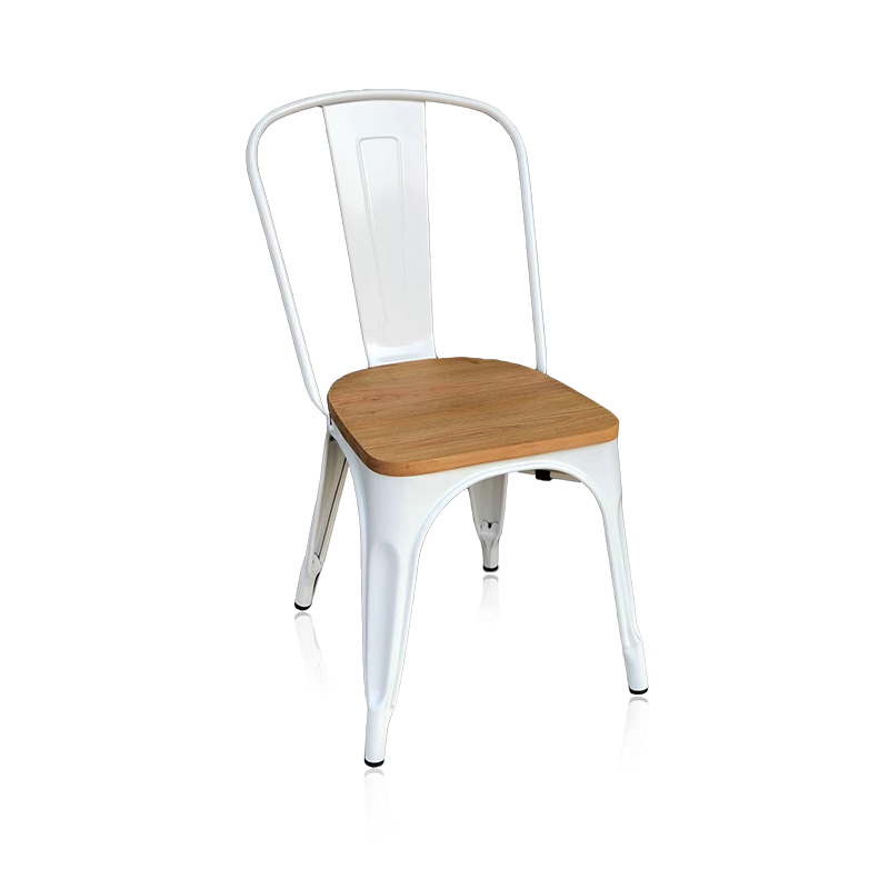 product-Uptop Furnishings-SP-MC035 Restaurant white metal dining chair-img