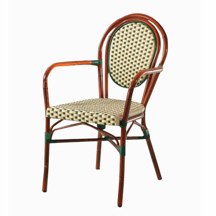 French style high quality garden set rattan arm outdoor chair (SP-OC516)