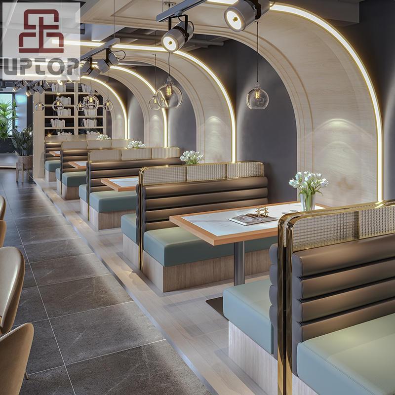 Modern Luxurydiningrestaurantsetrestaurantsofaboothseating(SP-CS179)