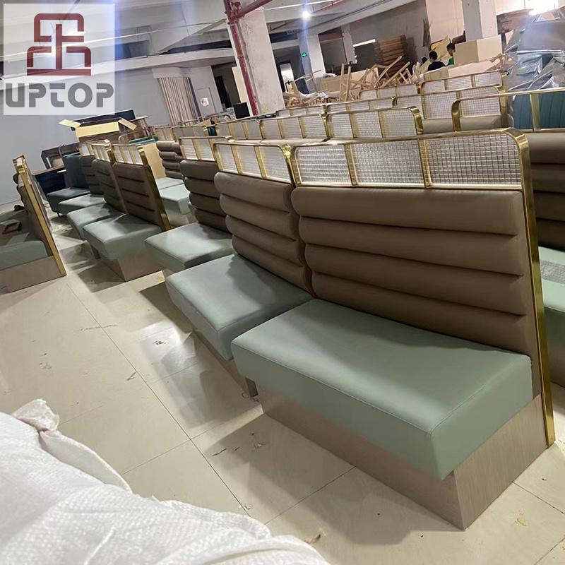 product-Uptop Furnishings-SP-CS179 Modern Luxury dining restaurant set restaurant sofa booth seating