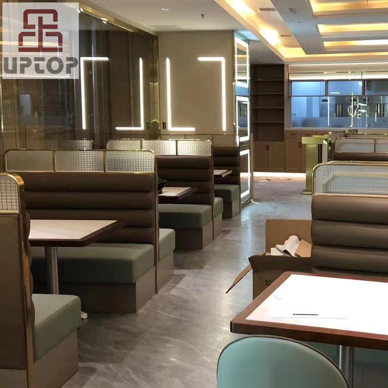 product-SP-CS179 Modern Luxury dining restaurant set restaurant sofa booth seating-Uptop Furnishings