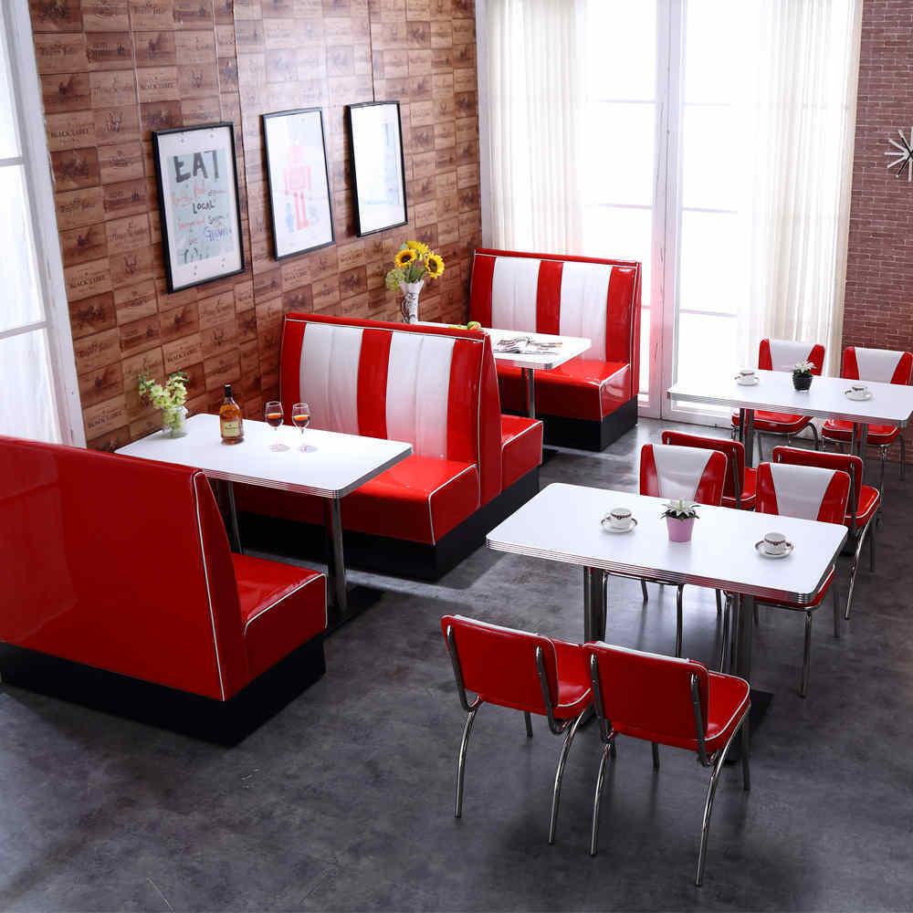 Retro american restaurant corner furniture