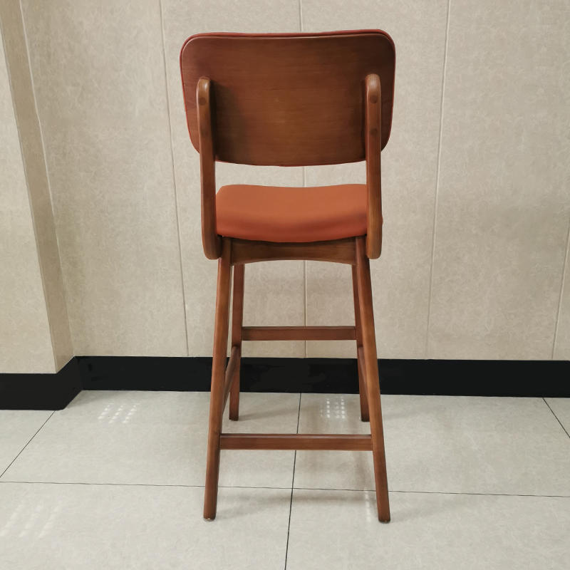 Comfortable hot sale pu leather upholstery solid wood bar chair(SP-BS267)