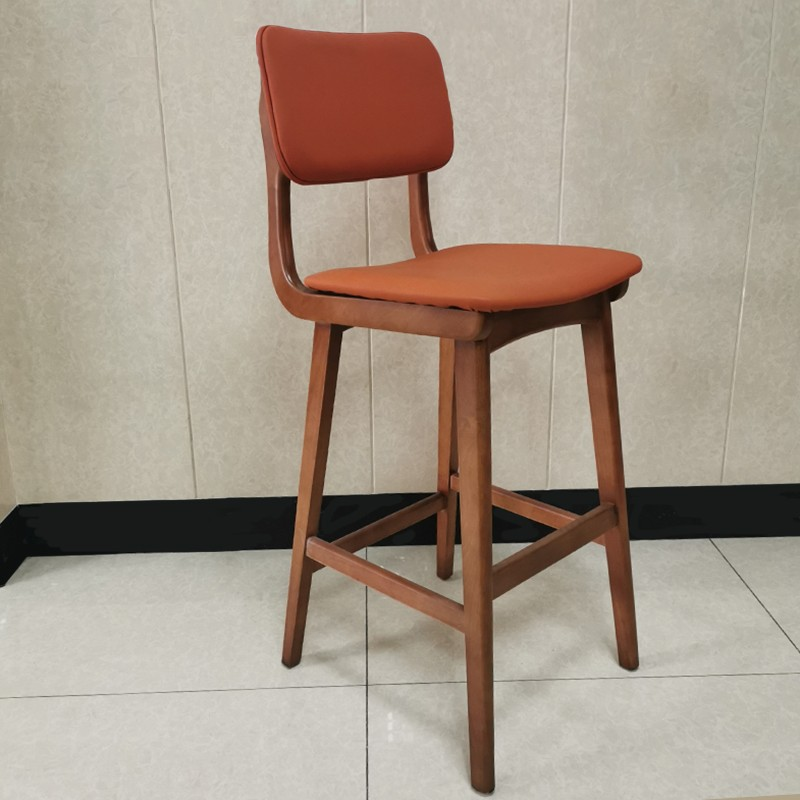 product-Uptop Furnishings-Comfortable hot sale pu leather upholstery solid wood bar chairSP-BS267-im