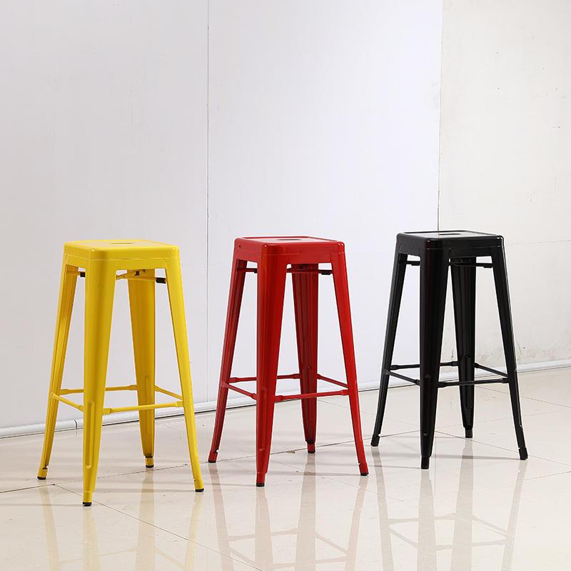 High quality vintage metal bar stool