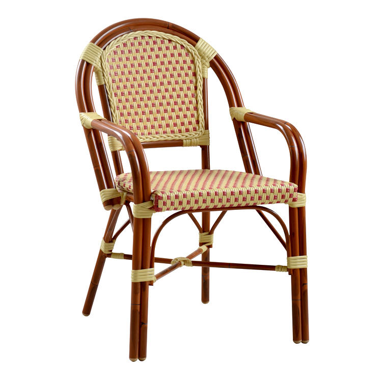 New Style PE Rattan Arm Chair For Restaurant