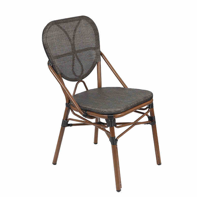 French style hot sale antique textilene fabric outdoor garden chair