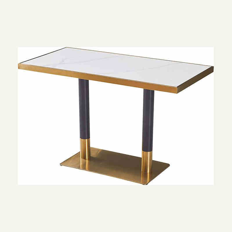 New arrival best sale hotel furniture marble dining table