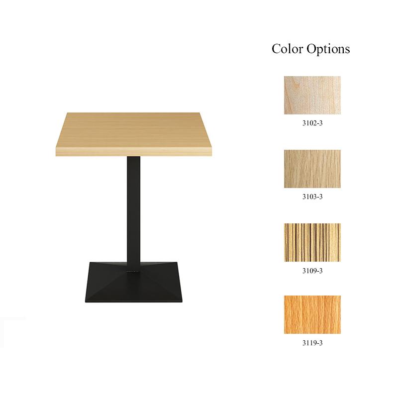 product-Uptop Furnishings-Hot sale coffee furniture square laminate table top black steel base metal