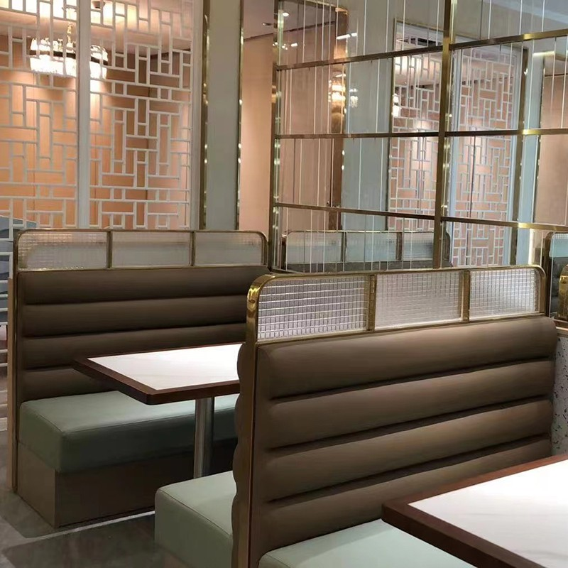 product-SP-CS179 Modern pu leather sofa and table restaurant sets-Uptop Furnishings-img