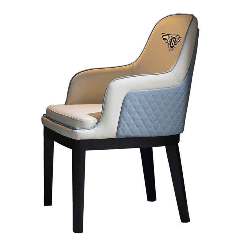 Modern hotel leather dining restaurant chairs